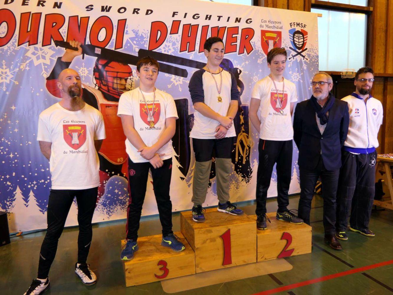 2020-01_Tournoi_Hiver-podium-cadet-sabre_bouclier